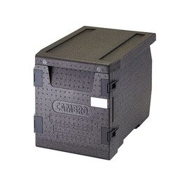 transport container EPP300 60 ltr black  • insulated  | 645 mm  x 440 mm  H 475 mm product photo