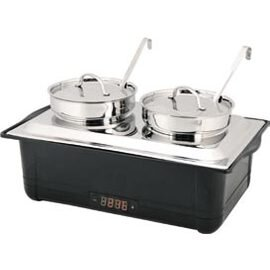 electric soup station GN 1/1 with 2 pots 230 volts 760-900 watts 8 ltr  L 580 mm  H 310 mm product photo