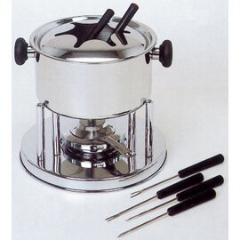 CLEARANCE | fondue set stainless steel | 6 forks product photo