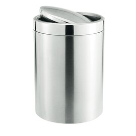 waste container 5 ltr stainless steel swing lid Ø 185 mm  H 285 mm product photo