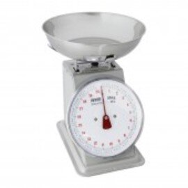scales with pan Ø 245 mm analog weighing range 20 kg subdivision 100 g product photo