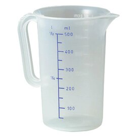 measuring beaker polypropylene graduated up to 500 ml  Ø 90 mm  H 140 mm product photo