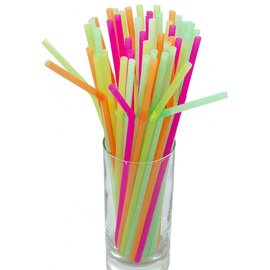 CLEARANCE | bendy straw set neon coloured  Ø 5 mm  L 230 mm  | 500 pieces product photo