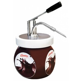 Chocolate hazelnut cream dispenser  | handling per lever 230 volts  L 350 mm  H 447 mm product photo