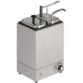 sauce dispenser 2 x 3 ltr heatable  | handling per lever 230 volts  L 245 mm  H 330 mm product photo