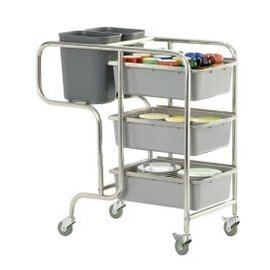 clearing trolley CLAIRE  | 3 shelves  L 1060 mm  B 580 mm  H 1000 mm product photo
