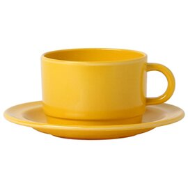 Clearance | coffee cup, melamine, yellow, dimensions: Ø 80 mm, height 55 mm, volume: 200 ml, (only cup) product photo