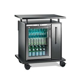 beverage tolley|wine cart 0964 wenge coloured 230 volts | convection cooling product photo