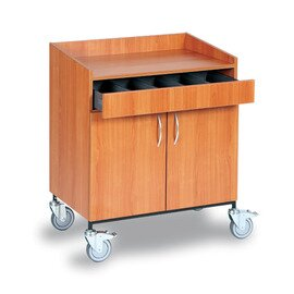 waiter station|service station cherry wood coloured 2 wing doors product photo
