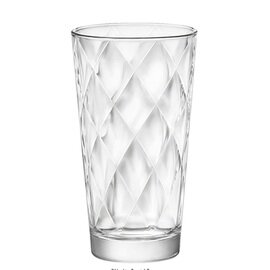 longdrink glass KALEIDO 37 cl with relief product photo