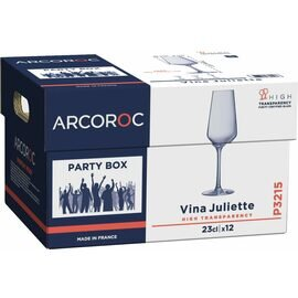 champagne goblet Party Box P12 23 cl with mark; 0.1 ltr with effervescence point 12 glasses product photo