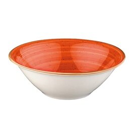 bowl AURA Gourmet Terracotta 400 ml porcelain orange veined inside  Ø 160 mm  H 52 mm product photo