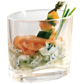 CLEARANCE | amuse gueule glass EAT Ellipse XL 20 cl glass with relief  Ø 87/62 mm  H 76 mm product photo