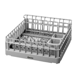 dishwasher basket set  • 500 x 500 mm  • universal basket|insert for drinking glasses|insert for plates|2 cutlery quivers product photo