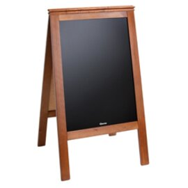 "B-STOCK | Menu card ""Bartscher Bistro"", on both sides inscription with chalk, inscription surface 530x795 mm, solid wood frame product photo"