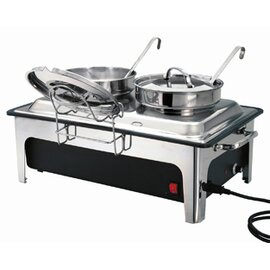 electric soup station with 2 pots 230 volts 2200 watts  L 636 mm  H 460 mm product photo