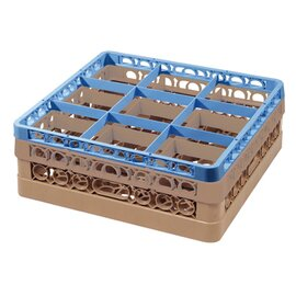 dish basket blue brown 500 x 500 mm  H 145 mm | 9 compartments 149 x 149 mm  H 128 mm product photo