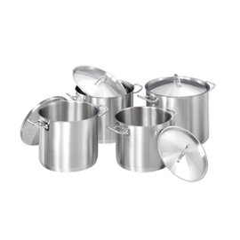 pot set stainless steel with lid 4 pots|4 lids  | cold handles product photo