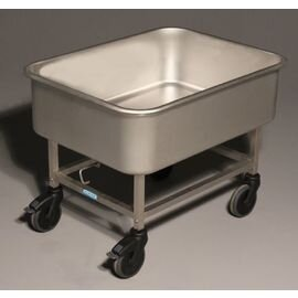 vegetable washing trolley KGWW/90 4 swivel castors rubber 2 braked castors 810 mm  x 615 mm  H 605 mm product photo