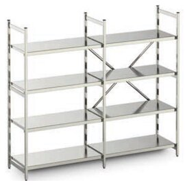 standing rack aluminium 2670 mm 600 mm  H 1800 mm 3 closed shelf board(s) shelf load 100 kg bay load 1200 kg product photo
