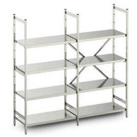 standing rack stainless steel 1875 mm 600 mm  H 1800 mm 3 closed shelf board(s) shelf load 125 kg bay load 600 kg product photo