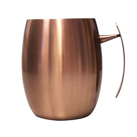 copper cup 400 ml copper antique looking shiny product photo