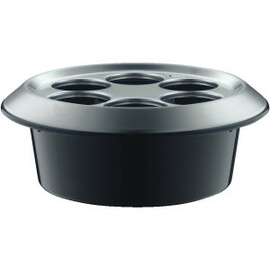 conference cooler black  Ø 297 mm  H 122 mm | suitable for 6 bottles of up to 0.3 ltr product photo