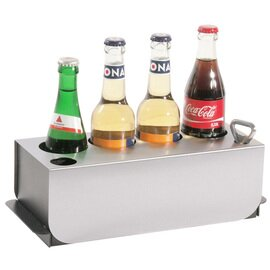 conference bottle cooler plastic stainless steel black  H 100 mm product photo