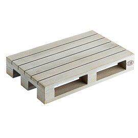 wooden mini pallet wood grey  L 200 mm  B 130 mm  H 35 mm product photo