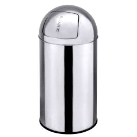 push bin 40 ltr stainless steel high-gloss pusht top lid Ø 350 mm  H 750 mm product photo
