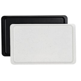 standard tray GN 1/2 fibre glass black rectangular product photo