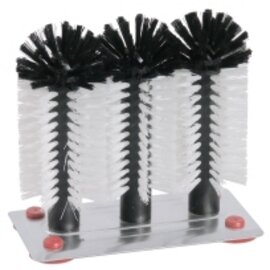 glass brushes 3 brushes|suction plate  | bristles made of polypropylene  Ø 55 mm (3x)  L 190 mm  H 240 mm product photo