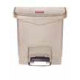 pedal bin plastic 15 ltr beige hinged lid product photo