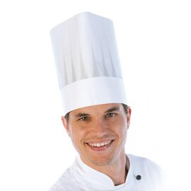chef's hat EUROPA - The Original adjustable paper white  H 210 mm 5 x 50 pieces product photo