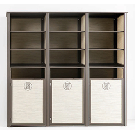 towel valet T36 SUNSET bronze | brown 1880 mm x 635 mm H 1780 mm 9 compartments | 3 double doors product photo
