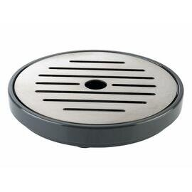 10853 drip tray for beverage dispenser, 2 parts, dishwasher-safe, diameter 9.5 cm, h 1.5 cm, grey product photo