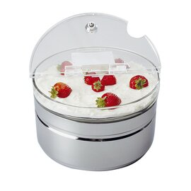 cooling bowl with lid 2500 ml acrylic Ø 230 mm  H 140 mm  | base|bwl|lid|battery product photo