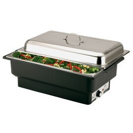 electric chafing dish GN 1/1 ECO removable lid 230 volts 760-900 watts 8.5 ltr  L 630 mm  H 290 mm product photo