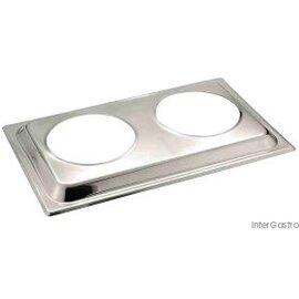 Bain Marie lid stainless steel  L 540 mm  B 335 mm product photo