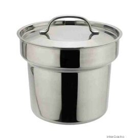 bain marie pot 4500 ml stainless steel with lid  Ø 200 mm  H 180 mm product photo