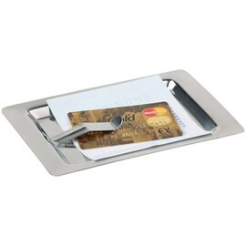 invoice tray stainless steel | rectangular 170 mm  x 110 mm product photo