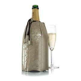cooling collar CHAMPAGNE platinum coloured double-walled  H 220 mm product photo