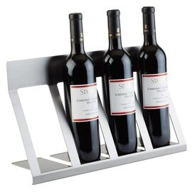 bottle display LARGE stainless steel | 4 shelves | 460 mm  x 150 mm  H 195 mm product photo
