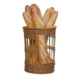 baguette basket plastic brown  Ø 300 mm  H 380 mm product photo
