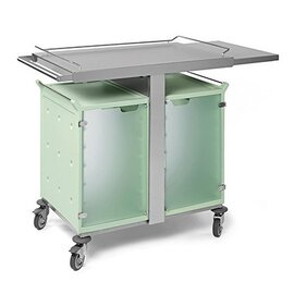 breakfast trolley 2 x 6 GN1/1  • transparent doors  • sliding board product photo