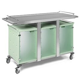 breakfast trolley 3 x 6 GN1/1  • transparent doors product photo