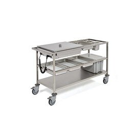food serving trolley heatable  • 2 basins product photo