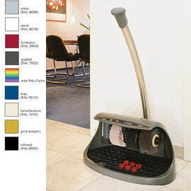 shoe shine machine Cosmo plus  • white | handrail button | 3 brushes Ø 130 x 70 mm product photo