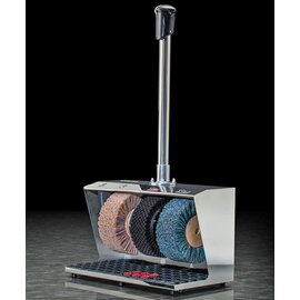 shoe shine machine Polifix 2  • chromium coloured shiny | handrail button | 3 brushes Ø 220 mm product photo