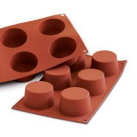 silicone baking mould GN 1/3  • muffin | 6-cavity | mould size Ø 68 x H 38 mm  L 300 mm  B 175 mm product photo